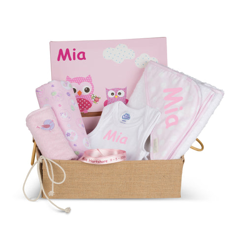 The Wonderful Personalised Girl Baby Basket