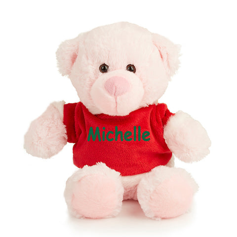 Pink Merry Christmas Teddy