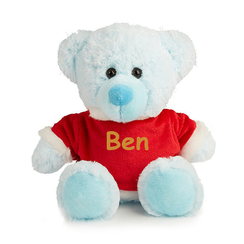 Blue Merry Christmas Teddy
