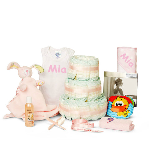 New Three Tier Bathtime Girl Nappy Cake