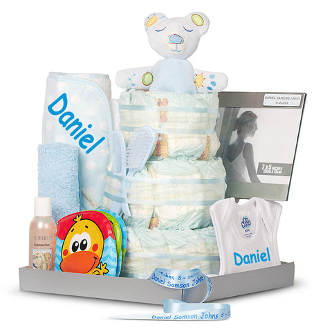New Three Tier Bathtime Boy Nappy Cake
