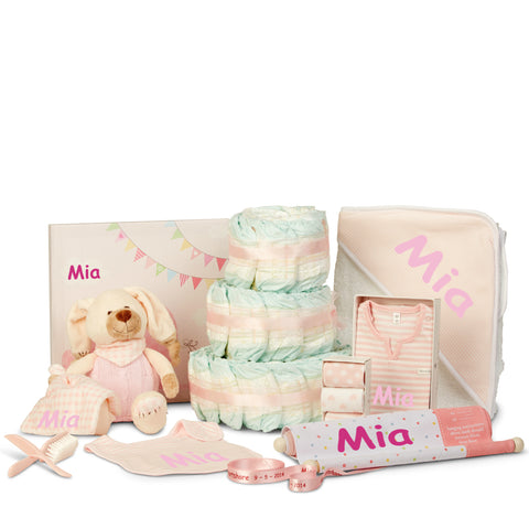THE ULTIMATE Three Tier Girl Nappy Cake