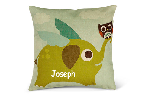 Flying Elephant Cushion