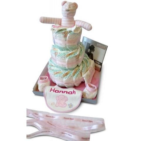 Three Tier Girl Nappy Wonder Nappy Cake