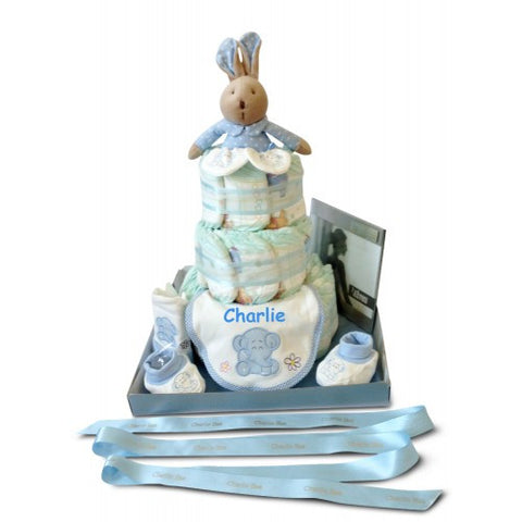 Boy Three Tier Wonder Nappy Cake