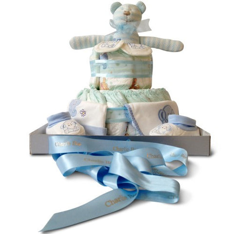 Two Tier Boy Bonanza Nappy Cake