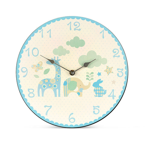 Happy Animals Boys Clock
