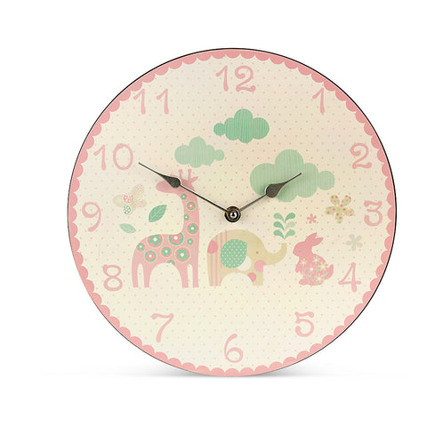 Happy Animals Girl Clock