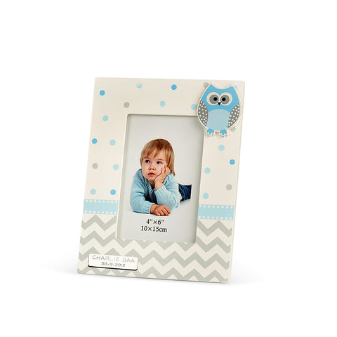 Baby Owl Boy Photo Frame