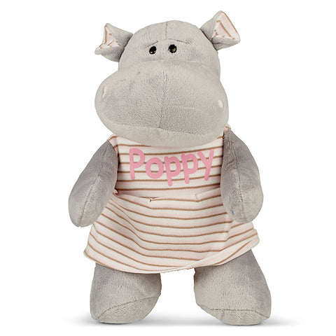 Personalised Girl Happy Hippo