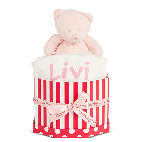 Happy Pink Baby Basket