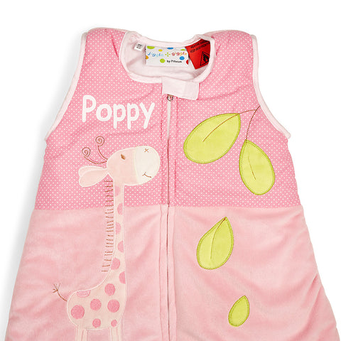 Pink Baby Animals Sleep Suit