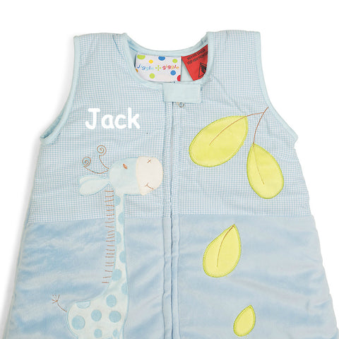 Blue Baby Animals Sleep Suit