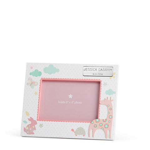 Happy Animals Girl Photo Frame