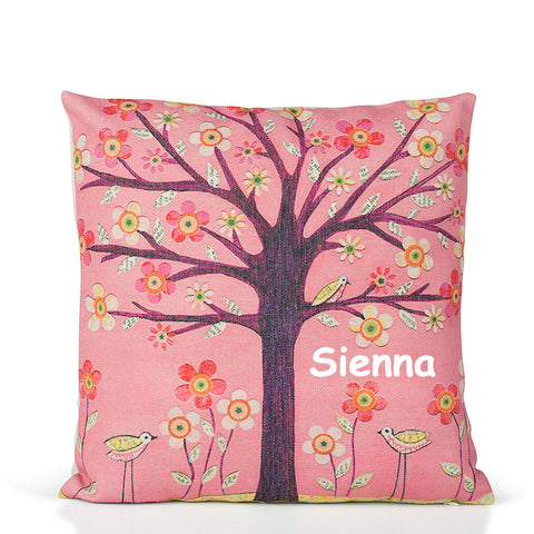 Pink Sunrise Tree Cushion