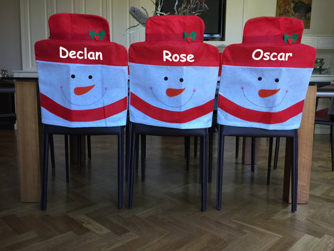 Xmas Snowman Chair Covers