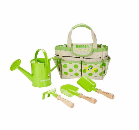 Little Gardeners Personalised Gardening Bag (With Tools)