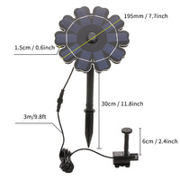 2.5W Solar Fountain Pump for Bird Bath Flower