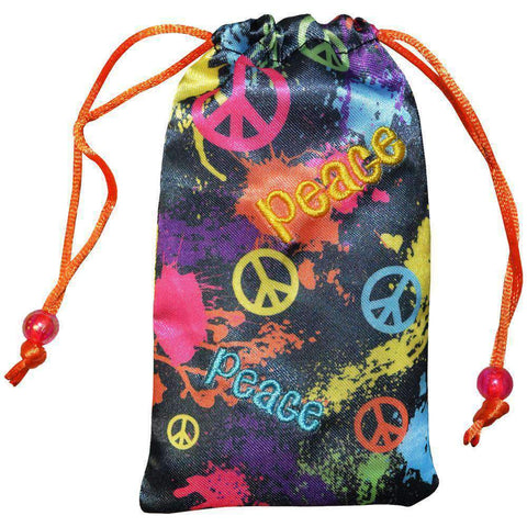 AMZER® Drawstring Pouch - Splatter Paint & Peace