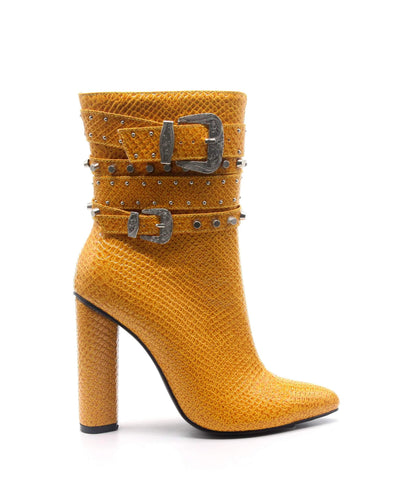 CINNAMON Chunky Block High Heel
