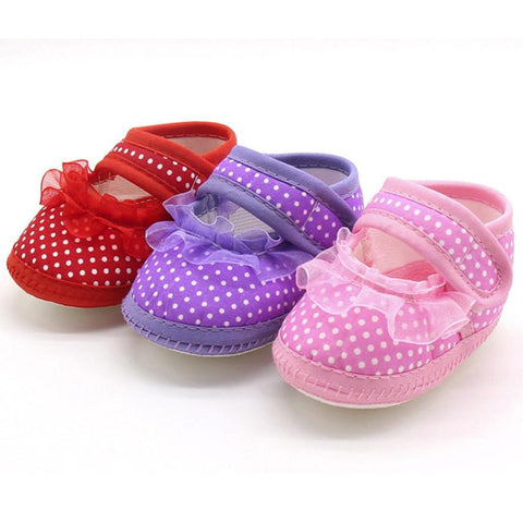 Fringe Soft Soled Non Slip Crib Shoes