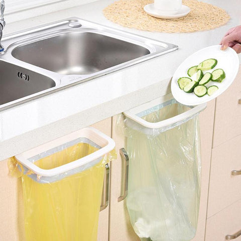 Kitchen Cupboard Back Trash Bag Rack Cabinet Door