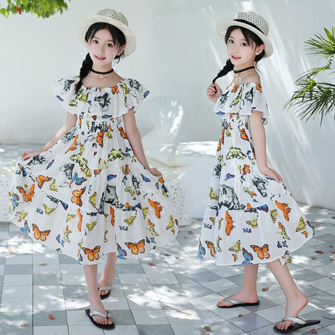 Summer Girls Butterfly Dress