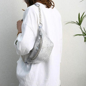 Women Chest Bag Sequins