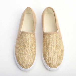 Women Flats Shoes  Sneakers Slip On Flats Leather