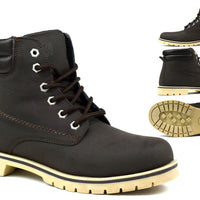 Bartium High Top Boot Brown