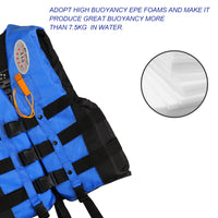 Life Jacket/Vest with Whistle Blue Color