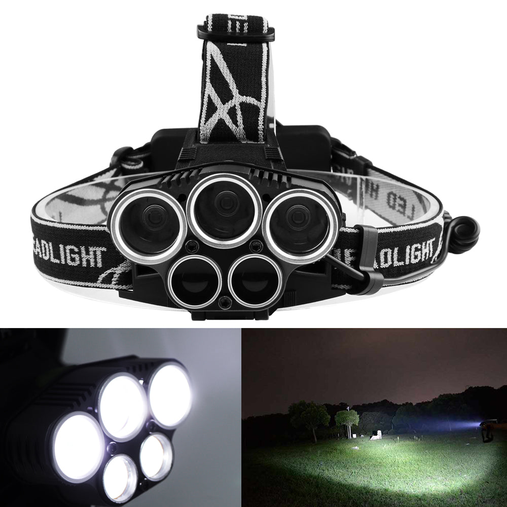 LED Headlight Torch Flashlight 6 Modes