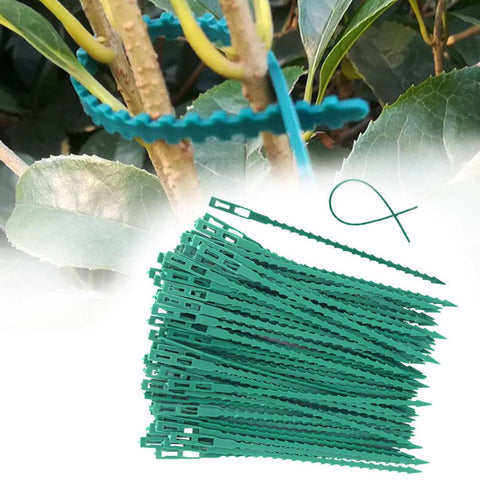 50/30 Pcs Reusable Garden Plastic Plant Belt Ties