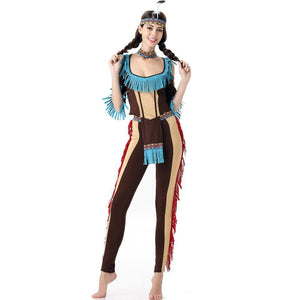 Women Plus Size Sexy Carnival Costume Forest Tribe