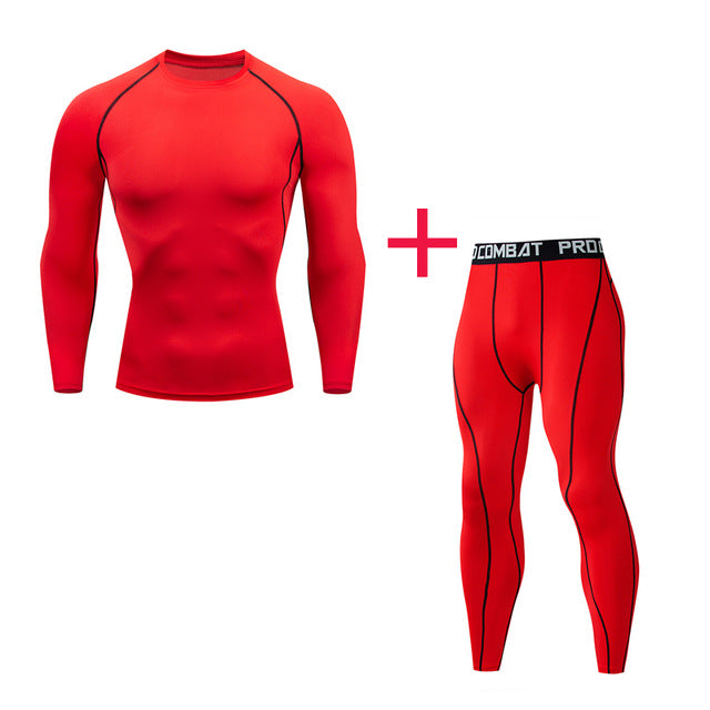Sports Compression Underwear Shirt Warm Leggings 2/3 pieces Thermo Underwear