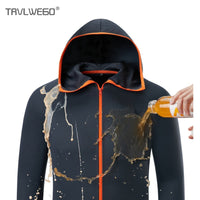 TRVLWEGO Hooded Quick-Drying Coat Breathable Waterproof UV Proof