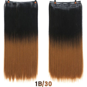SHANGKE Hair 24'' Long Straight Women Clip in Hair Extensions