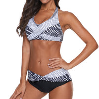 JAYCOSIN Floral Print Two Piece Push-Up Swimsuit