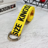 24 styles Unisex Canvas Belts Letters Printed D Ring Double Buckle