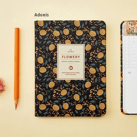 Leather Floral Weekly Planner