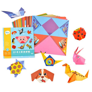 Shiny Baby Toys 3D 54 Pages Origami Cartoon Animal Book