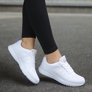 Woman Sneakers White Platform Trainers