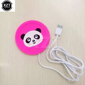 USB Warmer Cartoon Silicone Cup-Pad Heater Tray