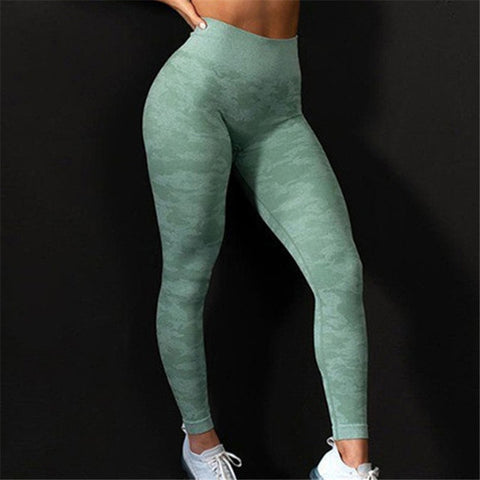 Fitness Leggings Camouflage Workout  High Waist Flexible