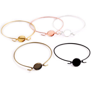 High Quality 2pcs 12mm Black Silver Gold Plated 5 Colors Handmade Bangle Base