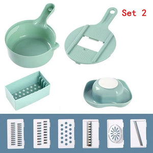 Manual Vegetable Slicer Kitchen Tools Multi-functional Round