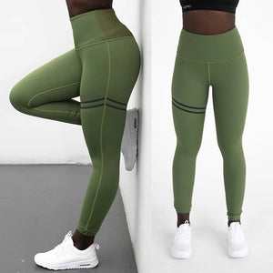Fashion Push Up Leggings Polyester V-Waist