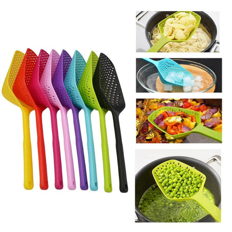 1PC No-stick Plastic Drain Shovel Strainers Colander