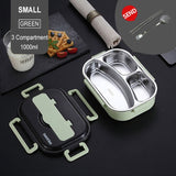 Portable Stainless Steel Lunch Box Bento Box Leakproof Food Container