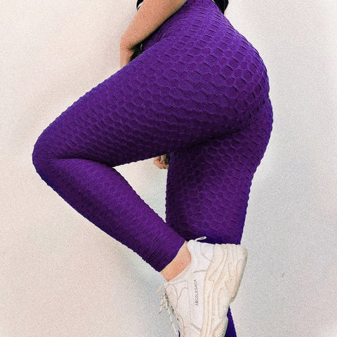 Women Workout Push Up Legging Solid Color Jeggings